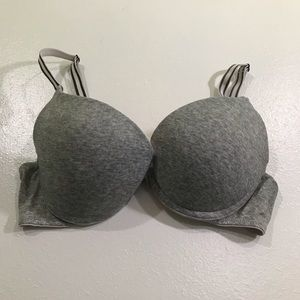 PINK Victoria's Secret Grey Push Up Bra; size 34B